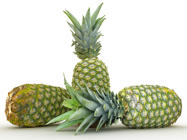 pineapple hd 8k 3D model