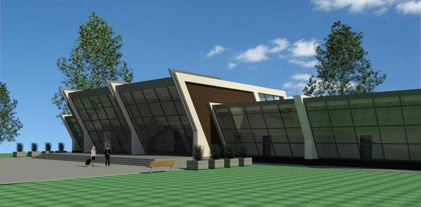 3D model conference centre