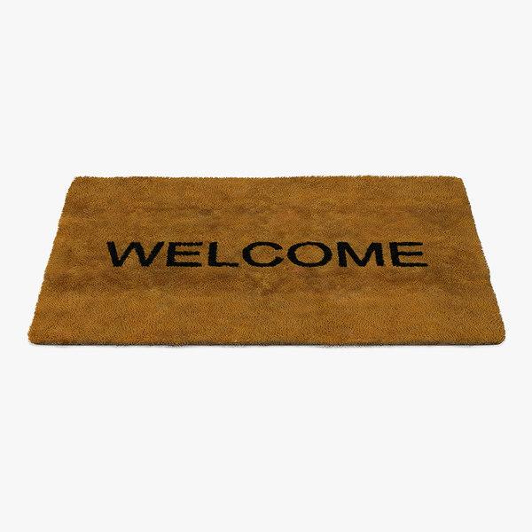 welcome doormat fur 3D