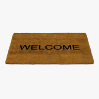 welcome doormat fur 3D