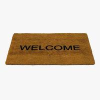 Welcome Doormat Fur