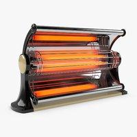 3D electric heater - vintage model