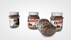 3D model nutella bottle