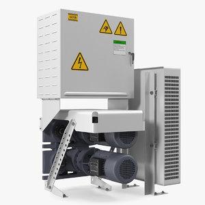 3D elevator motor engine