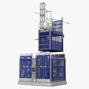 3D heavy duty elevator model