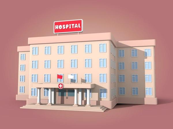 cartoon hospital 3D