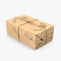 3D model paper mail packaging packing