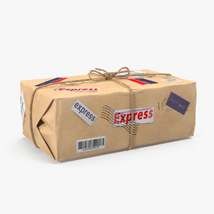 postal mail package packing model
