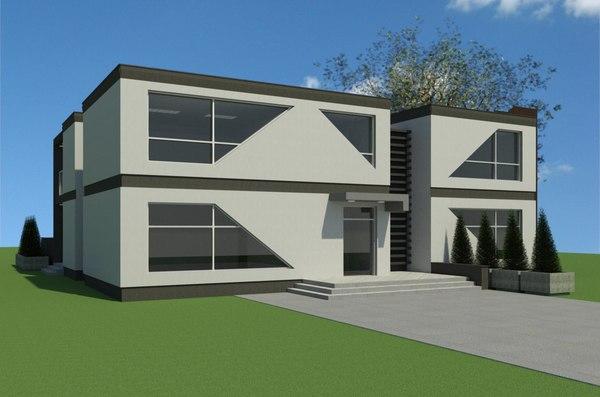 3-storey house 3D model