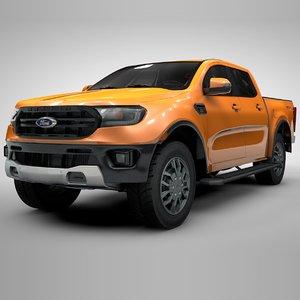 3D ranger 2019 orange l119 model