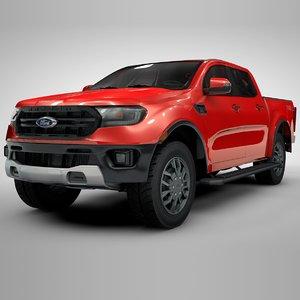 ranger 2019 red l122 3D model