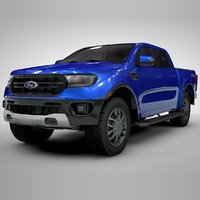 ranger 2019 blue l124 3D model