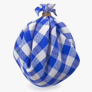 3D model sack package hobo