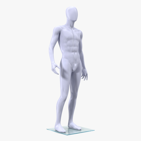 male mannequin standing pose 3D model