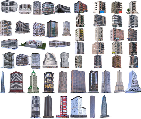 3D buildings residential model