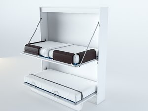 3D foldable bunk bed