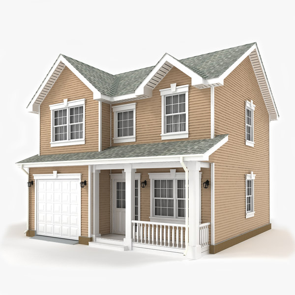 two-story cottage 3d max