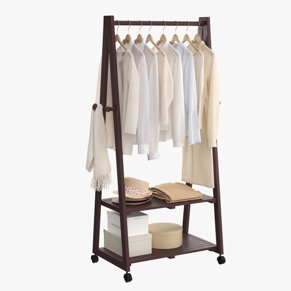 realistic clothes rack 2 model
