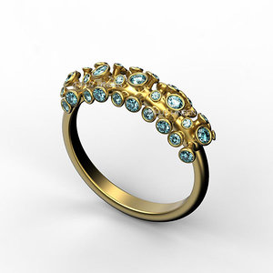 coral ring-hb 3D model