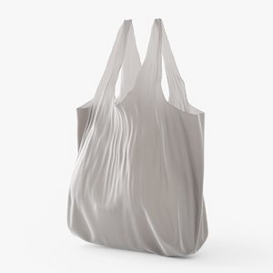 3D model plastic bag