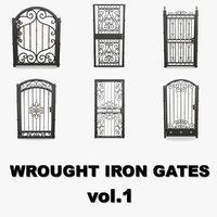 3D wrought iron gates 1