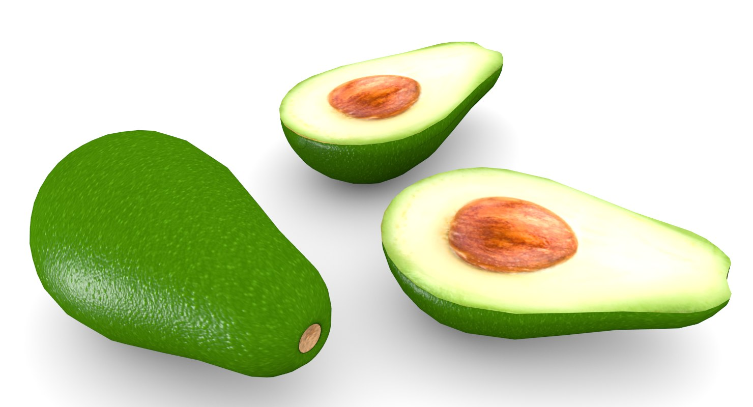 modelo 3d Aguacate Low-Poly - TurboSquid 1416473