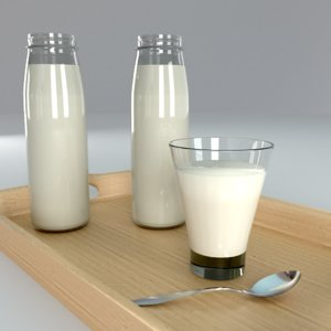 3D model milk glass