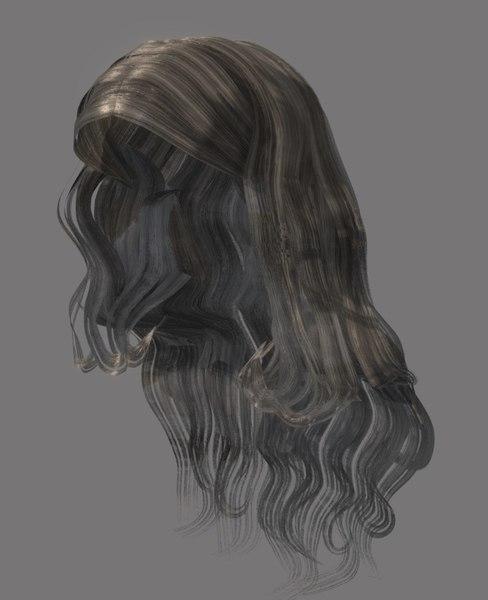3D female hairstyle hair