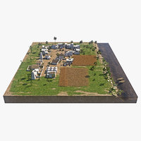 ancient village 3D model