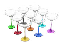 3D colorful cocktail glasses