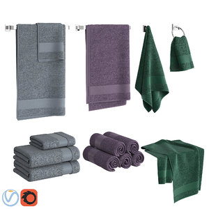 3D set towels