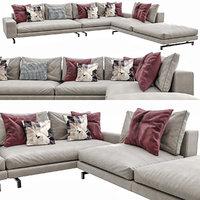 3D sherman sofa corona model