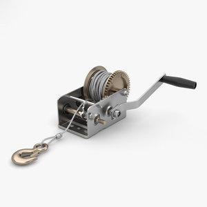 hand winch 3D model