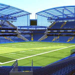 3D soccer stadium