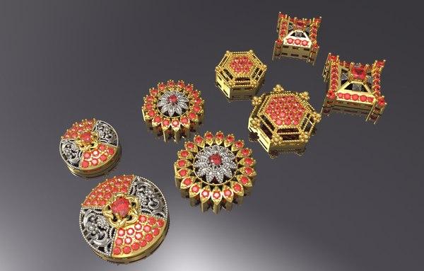 indian multi shaped pendants model