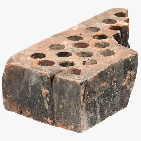 broken brick 03 3D model