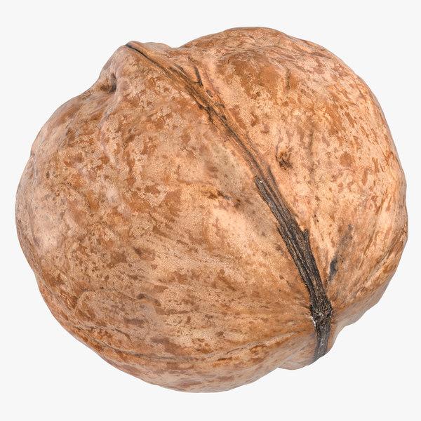 3D walnut 01 model