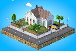 house v2 3D model