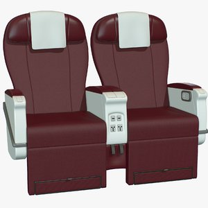 3D model airplane chair premium class