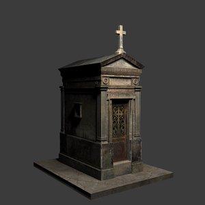 3D weathered mausoleum