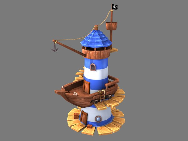 stylized lighthouse model