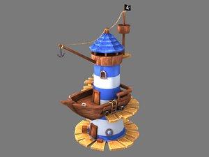 stylized lighthouse model