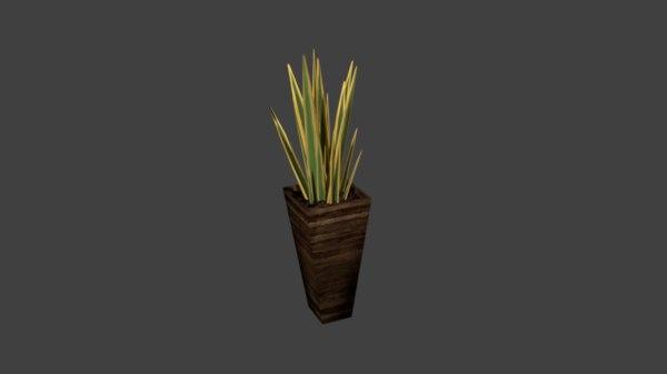 snake plant 3D