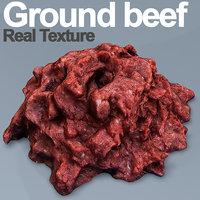 ground beef 3D