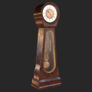 3D retro clock model