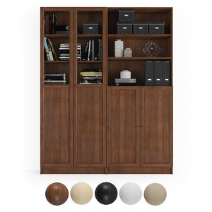 bookcase billy doors 3D model