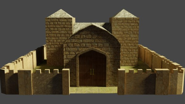 chapel church building 3D model