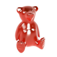 gummy teddy bear jelly 3D
