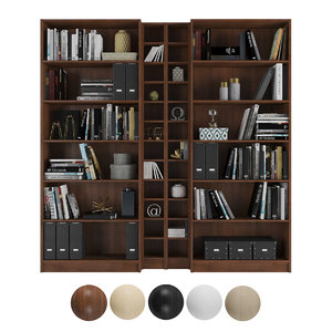 3D bookcase billy gnedby ikea