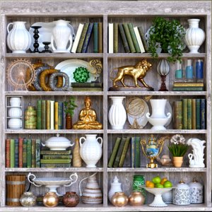 3D decorative shelves model